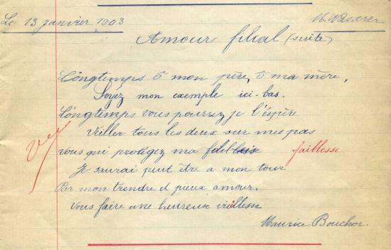 Cahiers de Monica Wasserer 1903 (© Vallée des forges)