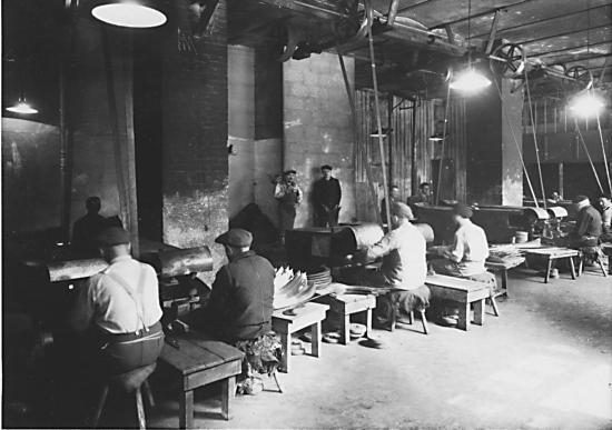 Atelier de polissage (© Vallée des forges)
