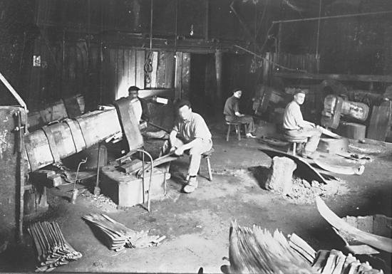 Atelier de platinage (© Vallée des forges)
