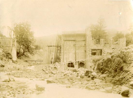 Centrale électrique en 1922 (Méane II) © Vallée des forges