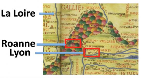 La Gaule (Ptolémée) Détail